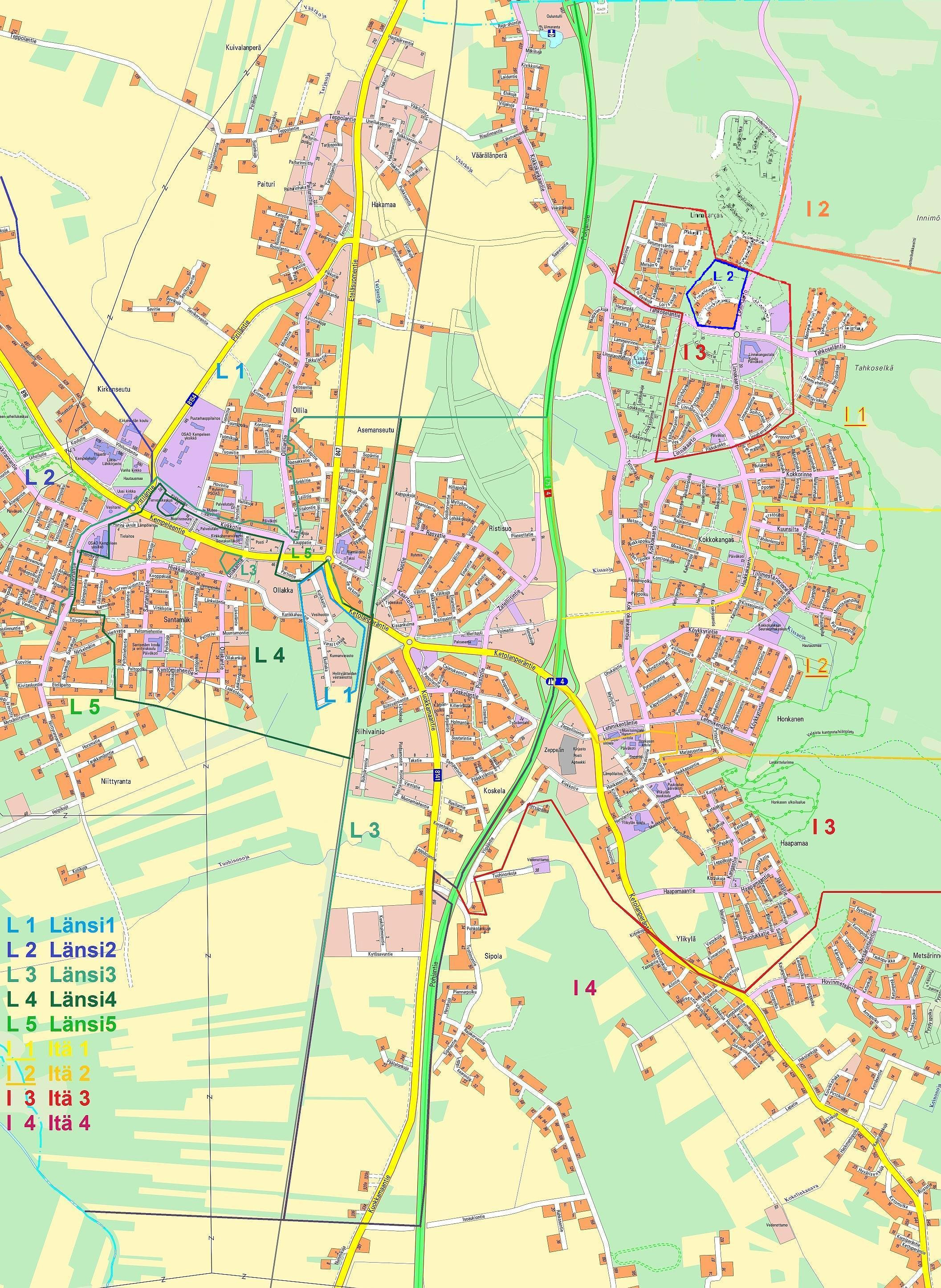 Kartta Kempeleen Kartta