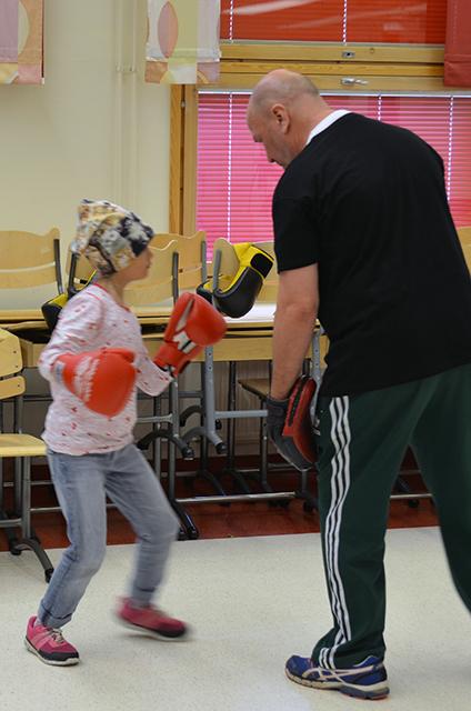nyrkkeilyharjoittelua