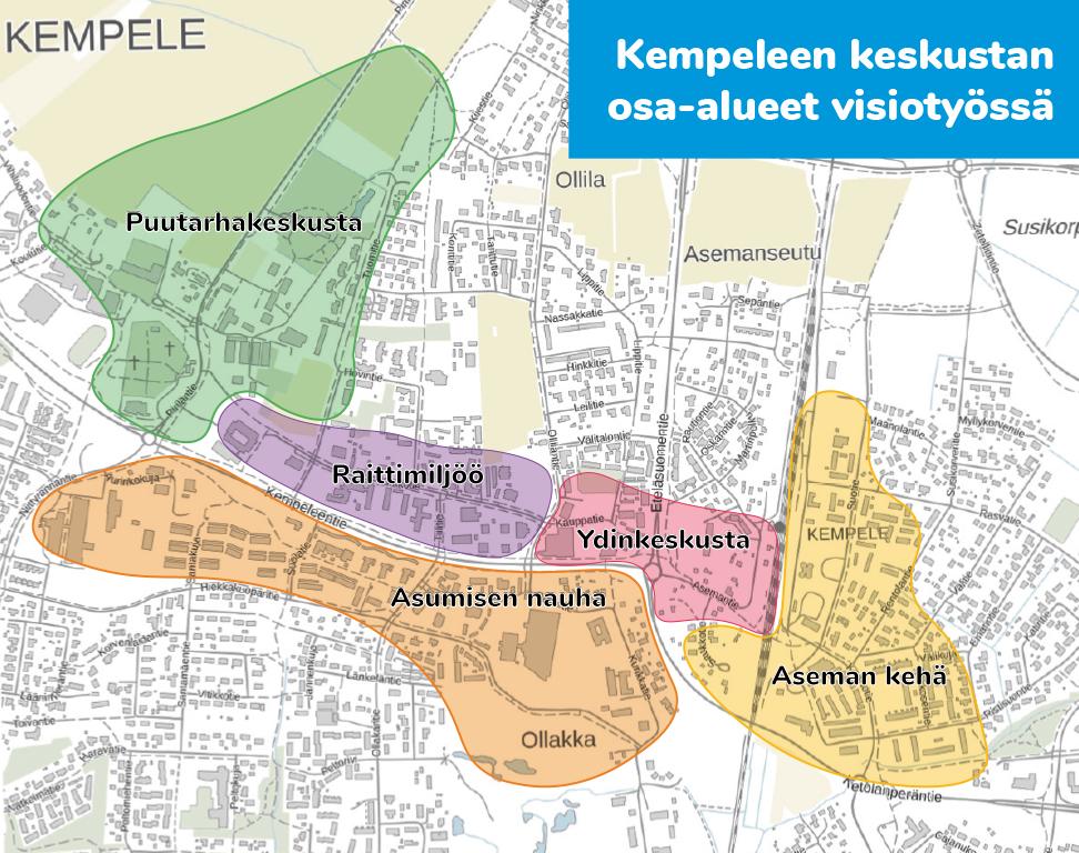 Osa-alueet kartalla