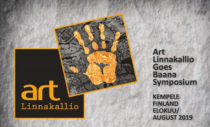 Kuvassa Art Linnakallio goes baana 2019 -tapahtuman mainos.